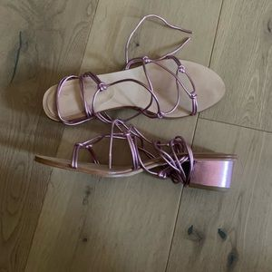 PLV tie up sandals